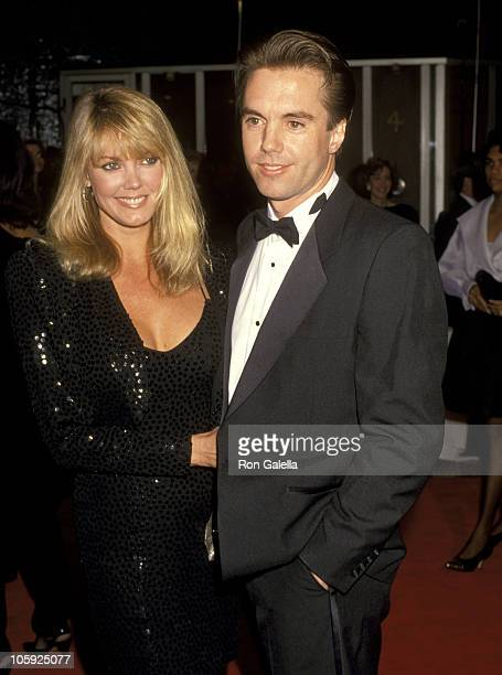 Shaun Cassidy and Ann Pennington during The 13th Annual Cable ACE Awards at Pantages Theater in Hollywood California United States