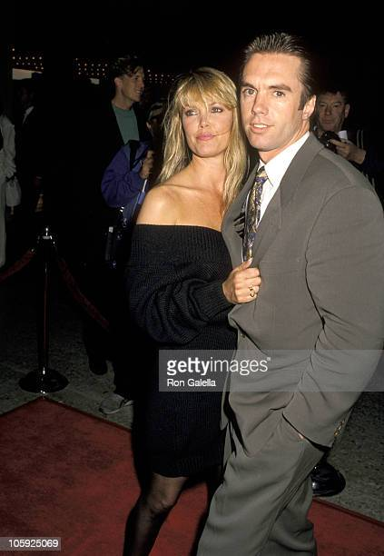 Shaun Cassidy and wife Ann Pennington during Longtime Companion Los Angeles Screening at Cineplex Odeon Cinema in Los Angeles California United States