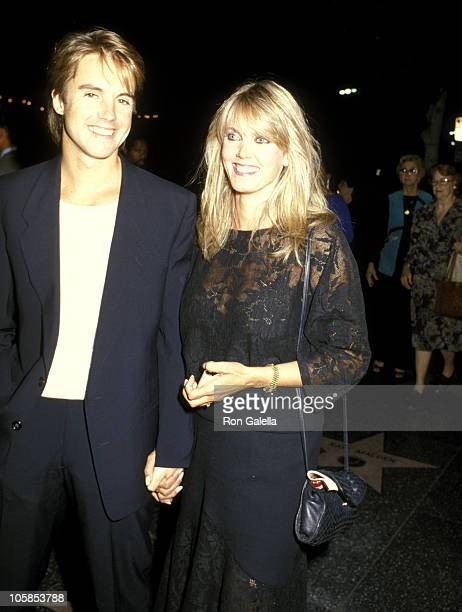 Shaun Cassidy and Wife Ann Pennington during The Tap Dance Kid Opening night September 20 1985 at Pantages Theater in Hollywood California United...