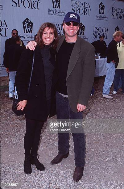 """Shaun Cassidy and wife during """"Children at Play"""" for LA Battered Women's Shelters - November 17, 1996 at Will Rogers State Park in Pacific Palisades,..."""
