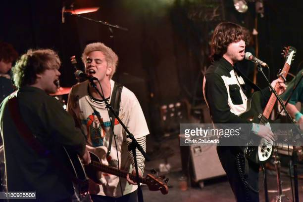 Shaun Couture Alec Castillo and Patton Magee of The Nude Party perform onstage at New West Records during the 2019 SXSW Conference and Festivals at...