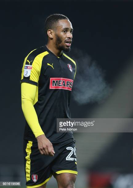 Shaun Cummings of Rotherham United in action during the Sky Bet League One match between Milton Keynes Dons and Rotherham United at StadiumMK on...