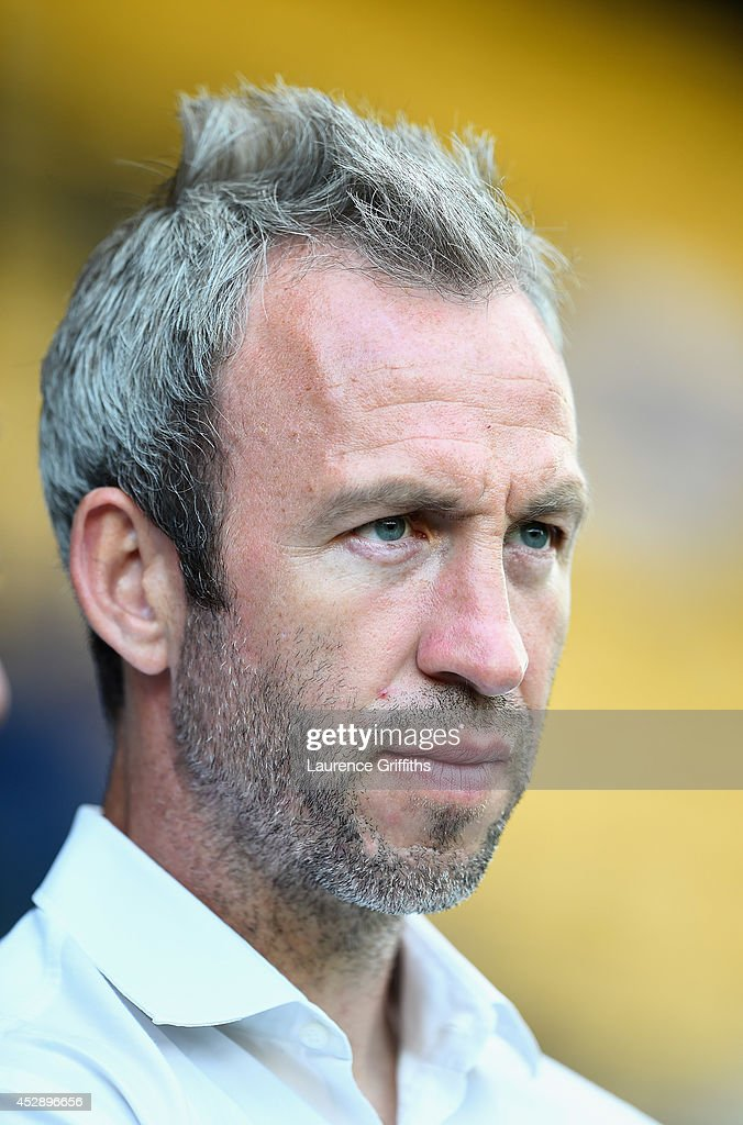 Shaun Derry of Notts County looks on prior to the Pre Season Friendly match between Notts County and Birmingham City at Meadow Lane on July 29, 2014 in Nottingham, England.