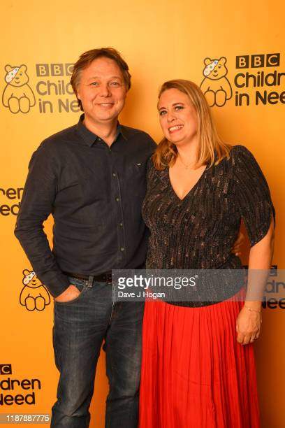 Shaun Dooley and Holly Dooley backstage at BBC Children in Need's 2019 Appeal night at Elstree Studios on November 15 2019 in Borehamwood England
