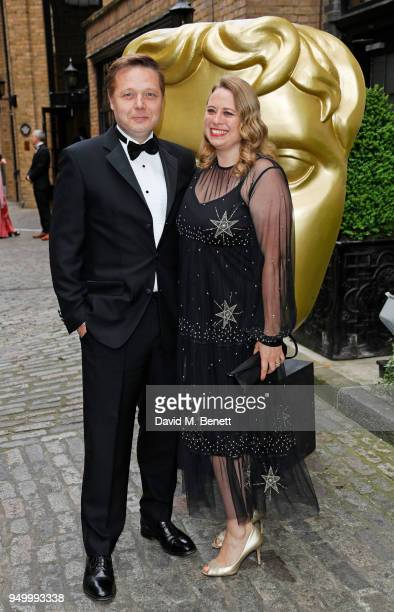 Shaun Dooley and Polly Cameron arrive at the British Academy Television Craft Awards held at The Brewery on April 22 2018 in London England