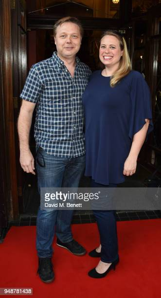 Shaun Dooley and Polly Cameron arrive for the Gala Night performance of Bat Out Of Hell The Musical at the Dominion Theatre on April 19 2018 in...