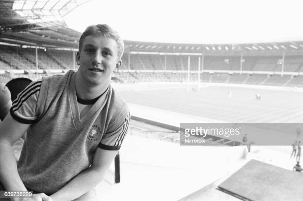 Shaun Edwards of Wigan stands on the Wembley turf for the first time on the eve of the Rugby League Cup Final against Widnes. Edwards will be the...