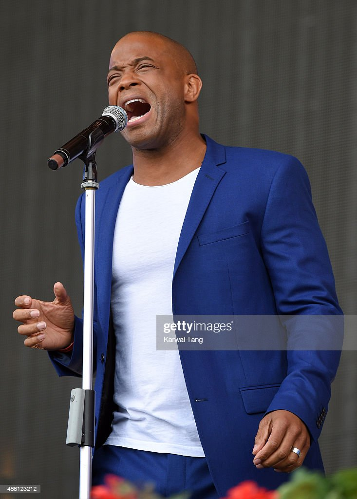 Shaun Escoffery performs at the BBC Radio 2 Live In Hyde Park Concert at Hyde Park on September 13, 2015 in London, England.