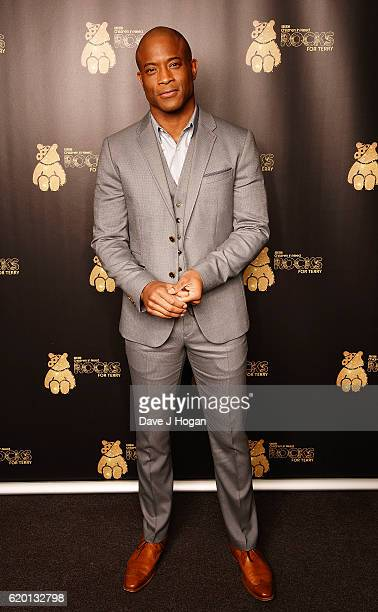 Shaun Escoffery supports BBC Children in Need Rocks for Terry at Royal Albert Hall on November 1 2016 in London England