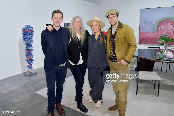 Shaun Evans Patti Smith Sam TaylorJohnson and Aaron TaylorJohnson attend Hauser Wirth Los Angeles Opening of Annie Leibovitz and Piero Manzoni and...