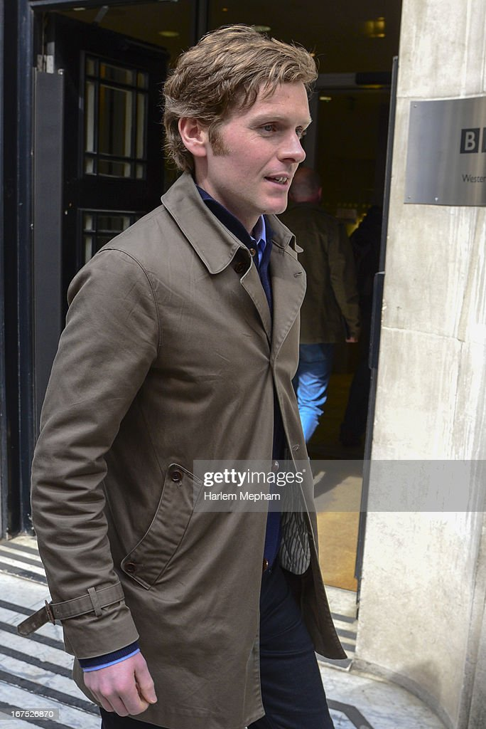 Shaun Evans sighted outside BBC Radio 2 studios on April 26, 2013 in London, England.