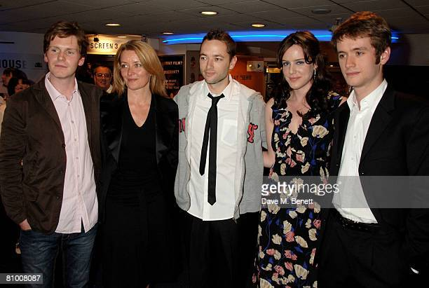 Shaun Evansproducer Lene Bausager director Sean Ellis with Michelle Ryan and Sean Biggerstaff arrive at the preview screening of Cashback at Odeon...