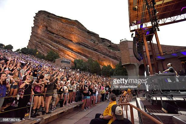 Shaun Frank performs at Red Rocks Amphitheatre on September 1 2016 in Morrison Colorado