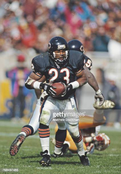 Shaun Gayle Strong Safety for the Chicago Bears runs the ball during the National Football Conference Central game against the Tampa Bay Buccaneers...