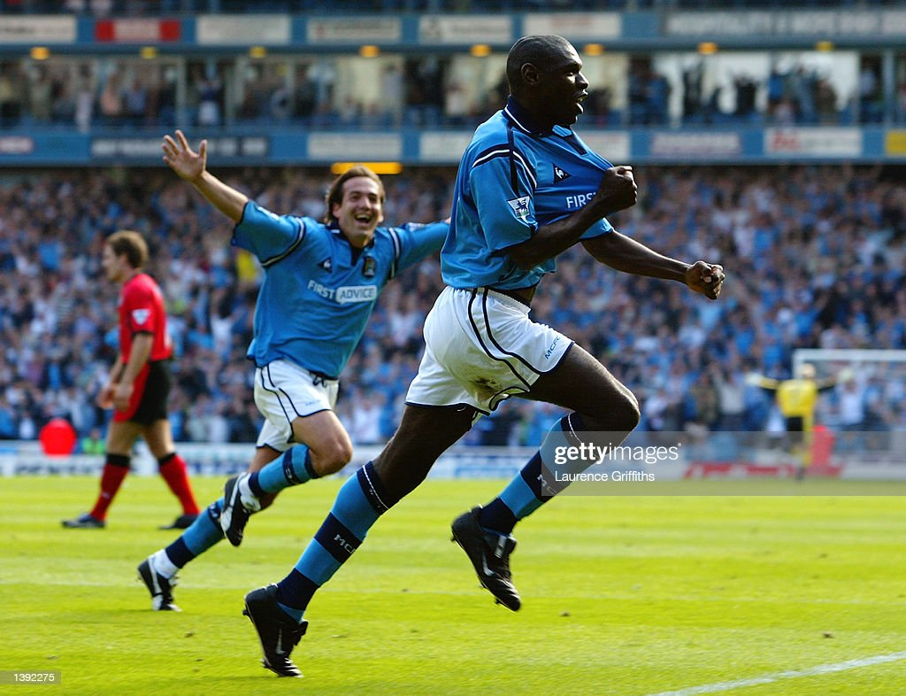 Shaun Goater of Manchester City : News Photo