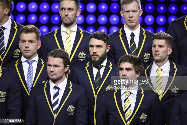 Shaun Higgins of the Kangaroos Patrick Dangerfield of the Cats Shane Edwards of the Tigers Jack Riewoldt of the Tigers and Andrew Gaff of the Eagles...
