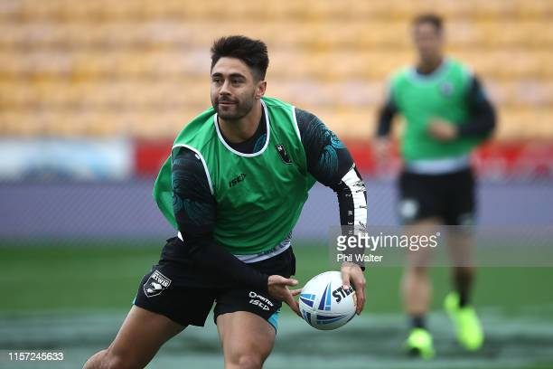 Shaun Johnson of the Kiwis during the New Zealand Kiwis Rugby League captain's run at Mt Smart Stadium on June 21, 2019 in Auckland, New Zealand.