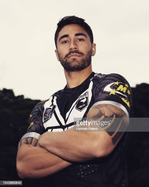 Shaun Johnson of the New Zealand Kiwis poses for a portrait during the New Zealand Kiwis and Kiwi Ferns team naming media conference at NZRL...