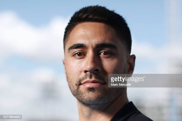 Shaun Johnson poses during a Cronulla Sharks NRL media opportunity at Sharks Leagues Club on December 06, 2018 in Sydney, Australia.