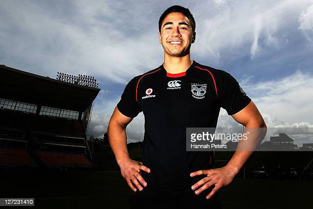 Shaun Johnson poses for a photo following a New Zealand Warriors NRL training session at Mt Smart Stadium on September 27 2011 in Auckland New Zealand