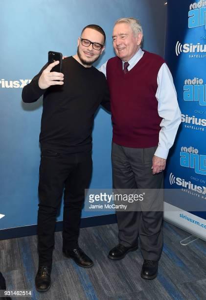 Shaun King and Dan Rather in studio at SiriusXMat SiriusXM Studios on March 13 2018 in New York City