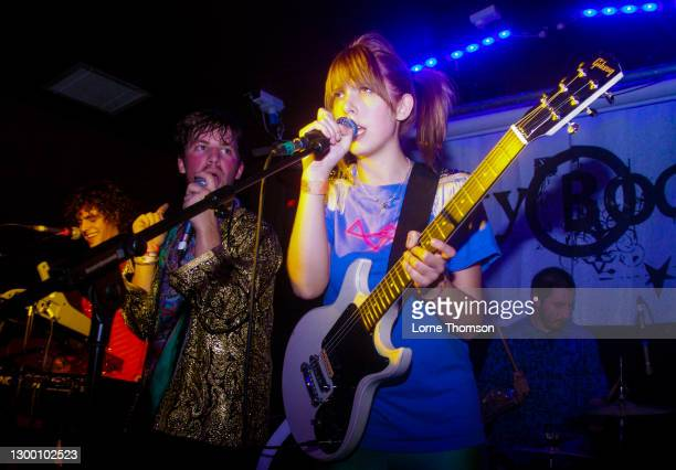 Shaun Libman and Claire England of Natalie Portman's Shaved Head perform at The Garage on October 16, 2009 in London, England.