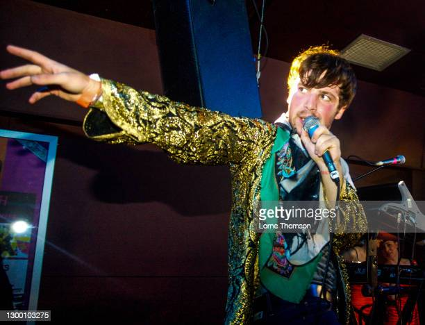 Shaun Libman of Natalie Portman's Shaved Head performs at The Garage on October 16, 2009 in London England.
