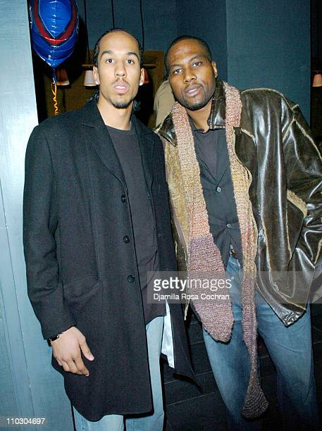 Shaun Livingston and Elton Brand during 2nd Annual New York Bud Bowl at 40/40 Club in New York City New York United States
