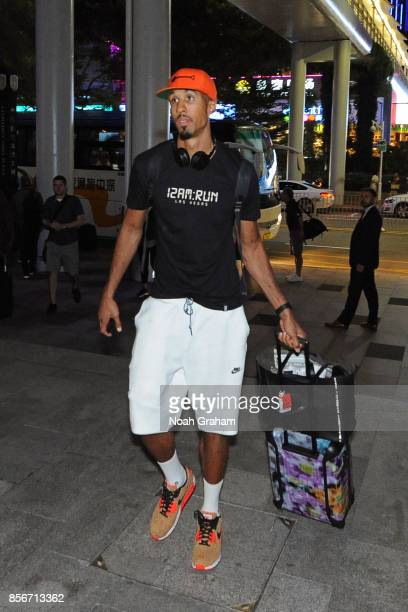Shaun Livingston of the Golden State Warriors arrives at the hotel for 2017 NBA Global Games China on October 2 2017 at the Four Seasons in Shenzhen...