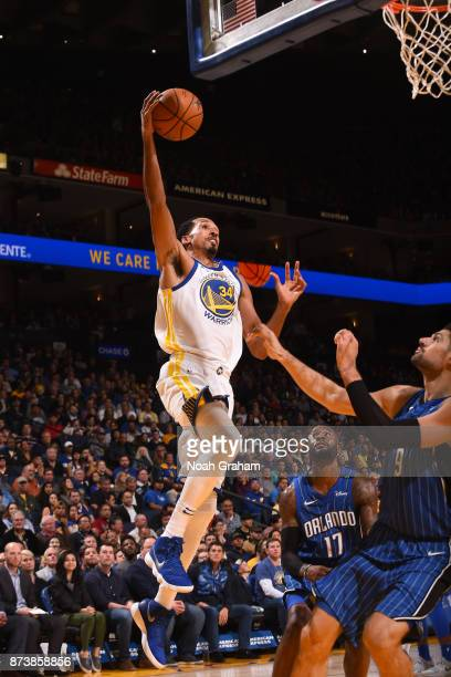 Shaun Livingston of the Golden State Warriors goes for a lay up against the Orlando Magic on November 13 2017 at ORACLE Arena in Oakland California...