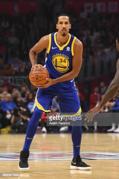 Shaun Livingston of the Golden State Warriors handles the ball against the LA Clippers on October 30 2017 at STAPLES Center in Los Angeles California...