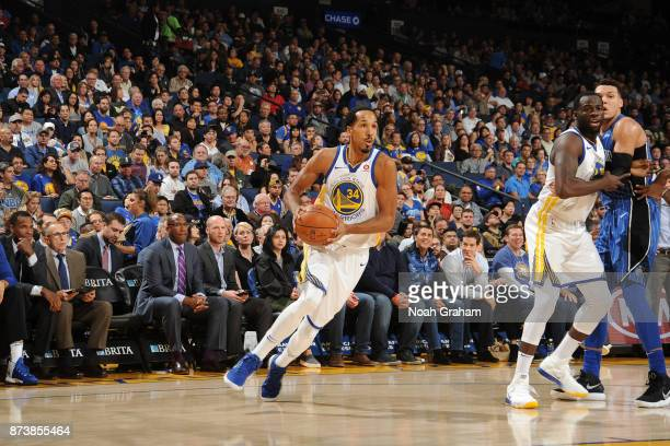 Shaun Livingston of the Golden State Warriors handles the ball against the Orlando Magic on November 13 2017 at ORACLE Arena in Oakland California...