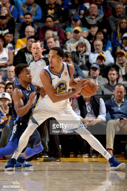 Shaun Livingston of the Golden State Warriors handles the ball against the Dallas Mavericks on December 14 2017 at ORACLE Arena in Oakland California...