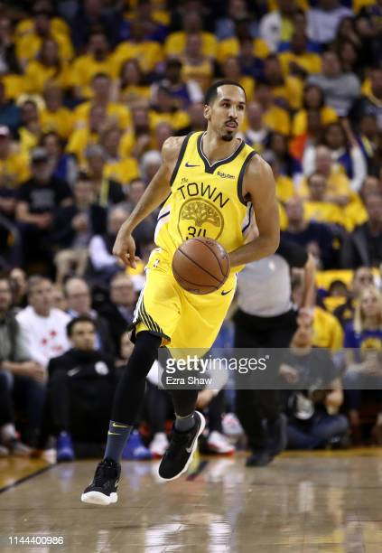 Shaun Livingston of the Golden State Warriors in action against the LA Clippers during Game Two of the first round of the 2019 NBA Western Conference...
