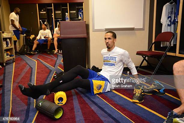 Shaun Livingston of the Golden State Warriors in the locker room before the game against the Cleveland Cavaliers in Game Four of the 2015 NBA Finals...