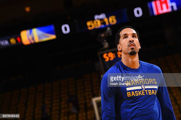 Shaun Livingston of the Golden State Warriors is seen before the game against the LA Clippers on January 28 2017 at ORACLE Arena in Oakland...