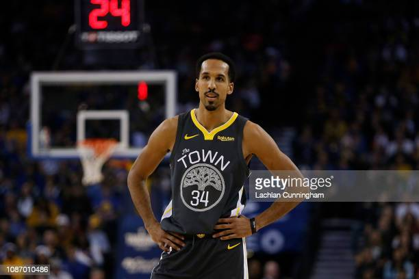Shaun Livingston of the Golden State Warriors looks on during the game against the LA Clippers at ORACLE Arena on December 23, 2018 in Oakland,...