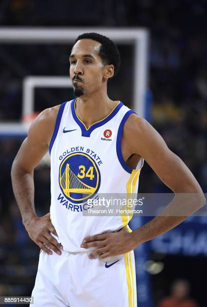 Shaun Livingston of the Golden State Warriors looks on while there's a break in the action against the Sacramento Kings during their NBA basketball...
