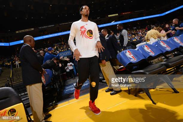Shaun Livingston of the Golden State Warriors runs out before the game against the Los Angeles Clippers on January 28 2017 at ORACLE Arena in Oakland...