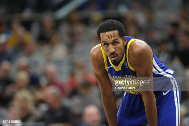 Shaun Livingston of the Golden State Warriors takes a breather during the game against the San Antonio Spurs on November 2 2017 at the ATT Center in...