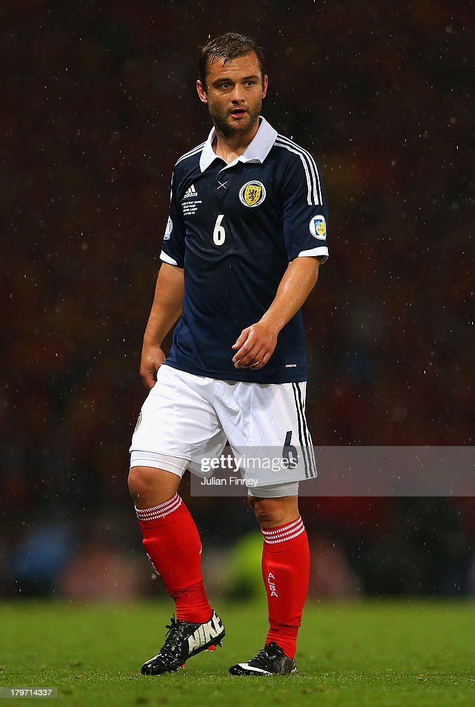 Shaun Maloney of Scotland in action during the FIFA 2014 World Cup Qualifying Group A match between Scotland and Belgium at Hampden Park on September 6, 2013 in Glasgow, Scotland.