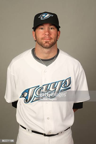 Shaun Marcum of the Toronto Blue Jays poses for a portrait during photo day at Knology Park on February 22 2008 in Dunedin Florida