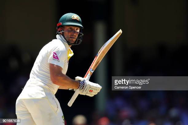 Shaun Marsh of Australia bats during day three of the Fifth Test match in the 2017/18 Ashes Series between Australia and England at Sydney Cricket...