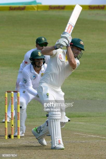 Shaun Marsh of Australia during day 1 of the 1st Sunfoil Test match between South Africa and Australia at Sahara Stadium Kingsmead on March 01 2018...