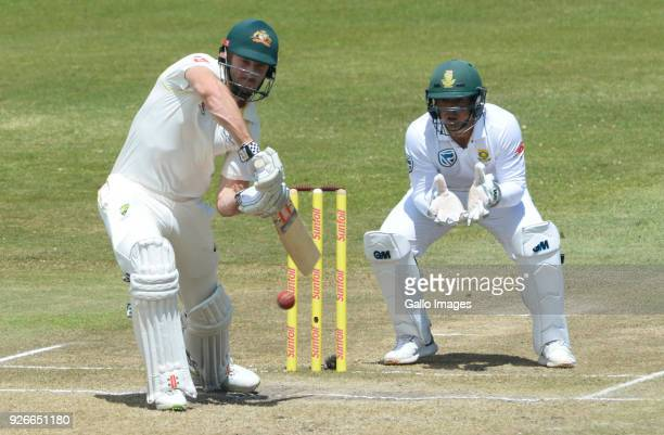 Shaun Marsh of Australia during day 3 of the 1st Sunfoil Test match between South Africa and Australia at Sahara Stadium Kingsmead on March 03 2018...