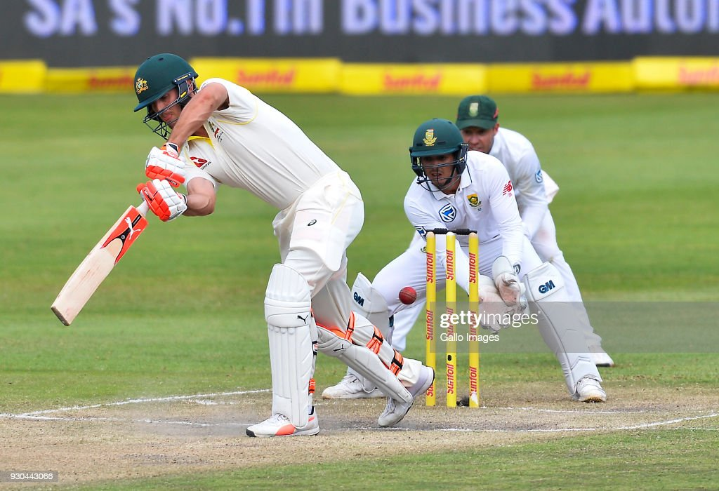 Shaun Marsh of Australia during day 3 of the 2nd Sunfoil Test match between South Africa and Australia at St Georges Park on March 11, 2018 in Port Elizabeth, South Africa.