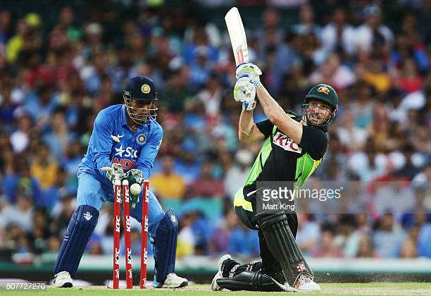Shaun Marsh of Australia is bowled by Ravichandran Ashwin of India during the International Twenty20 match between Australia and India at Sydney...