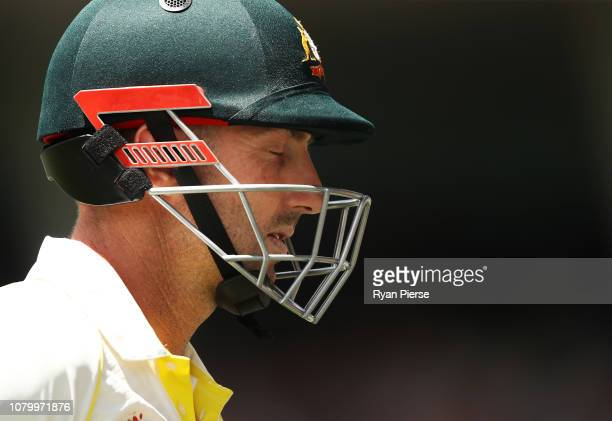 Shaun Marsh of Australia looks dejected after being dismissed by Jasprit Bumrah of India during day five of the First Test match in the series...