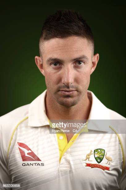 Shaun Marsh of Australia poses during the Australia Test cricket team portrait session at Intercontinental Double Bay on October 15 2017 in Sydney...