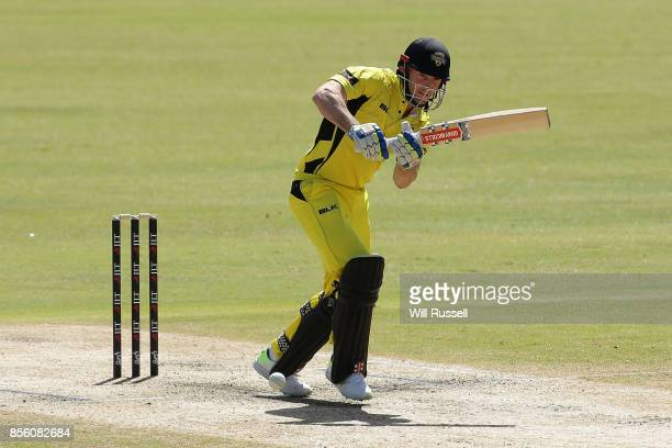Shaun Marsh of the Warriors bats during the JLT One Day Cup match between Victoria and Western Australia at WACA on October 1 2017 in Perth Australia